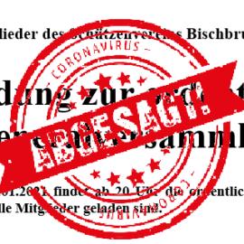 Generalversammlung Abgesagt